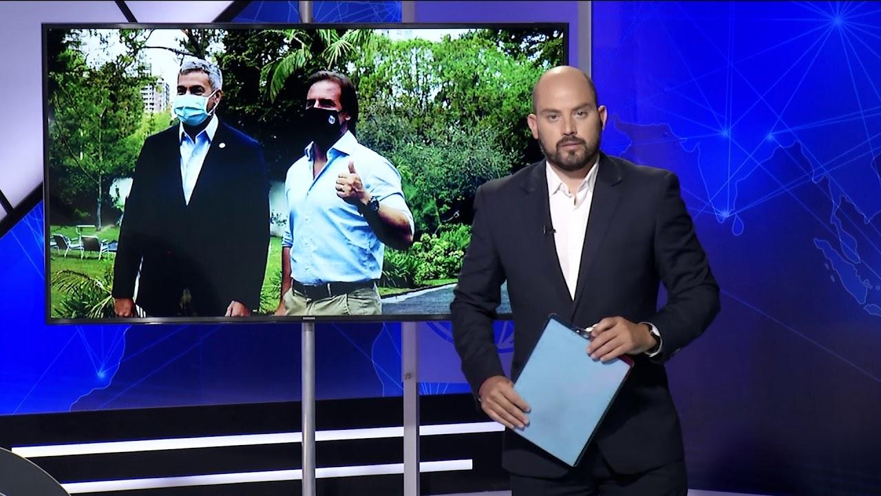 """Lacalle Pou: es """"buen momento"""" para que Uruguay ofrezca a Paraguay la salida al mundo"""