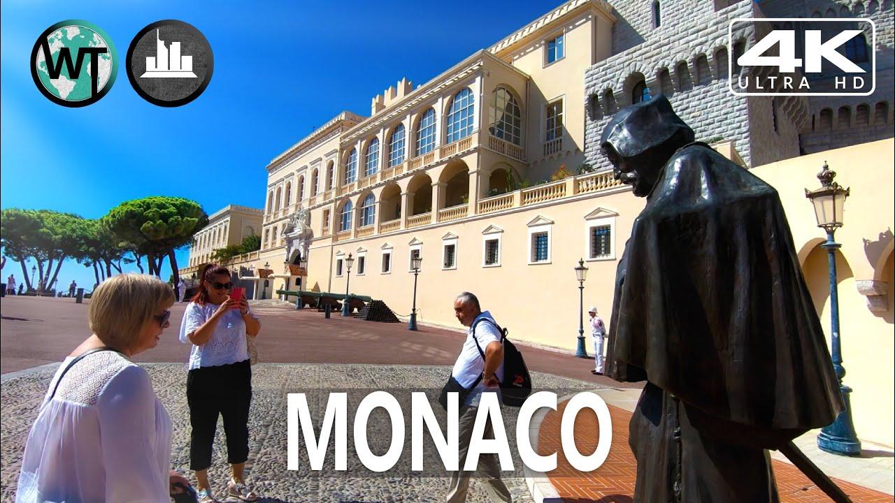 Monaco-Ville (Old Town), Prince's Palace - 🇲🇨 Monaco - 4K Walking Tour